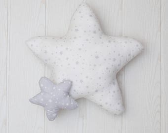 white Star pillow.baby pillow. White Star cushion. kids pillow. baby shower gift. newborn gift. personalized pillow nursery decor. kids room