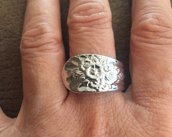Vintage Spoon Ring size 8 - Jubilee, circa 1953