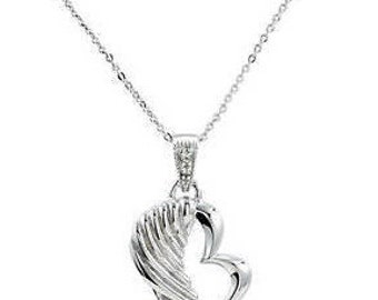 Sterling Silver Tiny Angel Wings Necklace