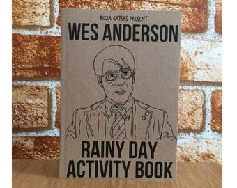 Wes Anderson Rainy Day Colouring & Activity Book