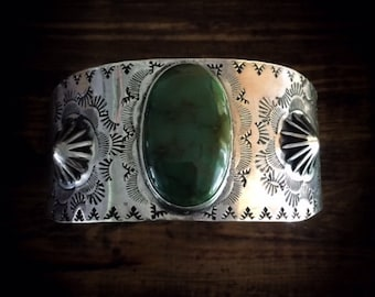 Royston Turquoise Concho Stamped Cuff