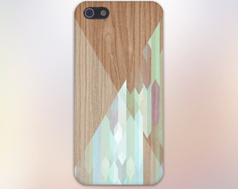 Stained Glass Geometric Wood Case, iPhone X, iPhone 8 Plus, Rubber iPhone Case, Galaxy s9, Samsung Galaxy Case Note 8, Handmade CASE ESCAPE