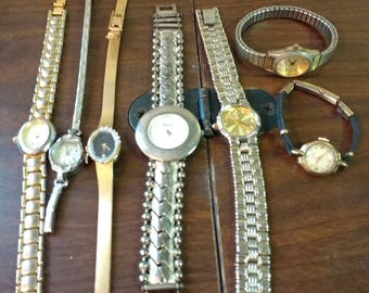 Lot of 7 Vintage Watches