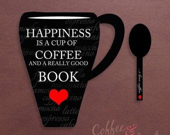 Coffee & Books Printable Bookmark