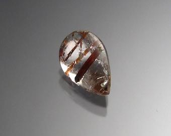 Rutilited Quartz pear shaped gemstone