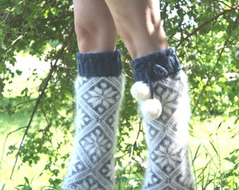 PDF Knitting Pattern - Starry Night Legwarmers