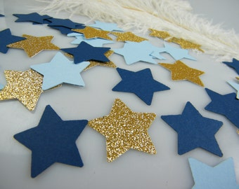 Twinkle Little Star baby shower Confetti Gold & Blue Party Decoration / Pick your Glitter Color / 1st Birthday / Its a Boy Baby Shower