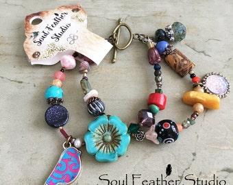 B1001•Gypsy Bracelets•Multi Bracelets•Summer Bracelets