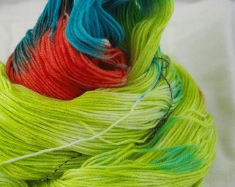 Merino Superwash Sock Yarn, Castille, Hand-Dyed