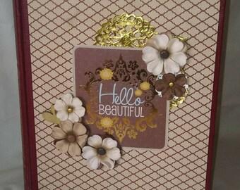 Hello Beautiful Altered Book Photo Album / Scrapbook / Memory Keeping / Vintage Encyclopedia