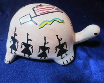 Turtle Totem - Painted Kokopellis, symbols, signed