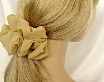 Xtra Big Scrunchies - #68 - in Camel Chiffon are Lovely Gifts for Her