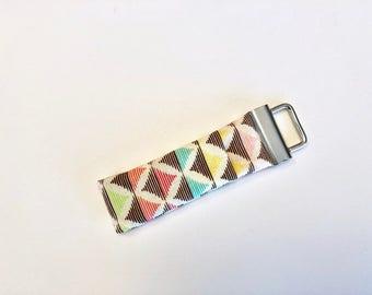 Chapstick Lip Balm Cozy Keychain-Color Diamonds