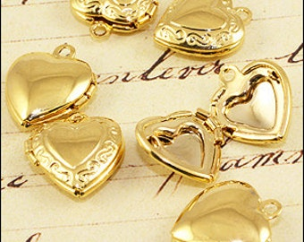 Gold Plated Heart Locket. 15mm