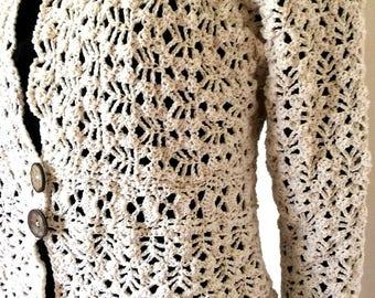 Vest romantic broken in 100% cotton white color