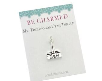 Mt. Timpanogos Temple, LDS Temples, Mt Timpanogos Utah Temple charms, LDS Wedding, temple charm bracelet, temple Necklace or temple keyring