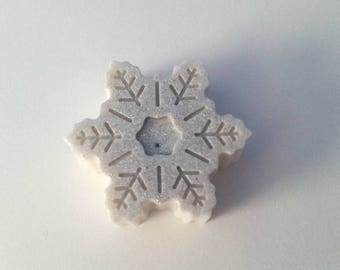 Snowflake Soap (Melt and Pour)