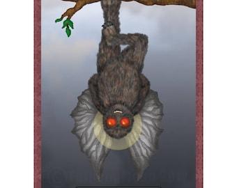 The Hanged Man Cryptozoology Tarot Card Print