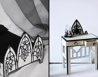 Gothic doll furniture for Monster High, Ever After High, Barbie