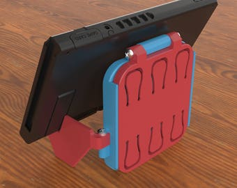 Nintendo Switch, Cartridge Holder, Folding Stand, Highly Portable, Low Profile