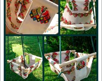 Baby swing chair, Baby swing, Baby hammock, Kid swing chair, Baby shower,Birthday gift,Еmbroidery