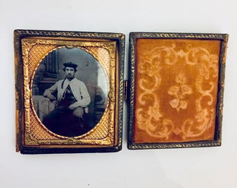 Antique Daguerreotype and Frame.