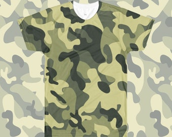 Camouflage All Over T-Shirt Green