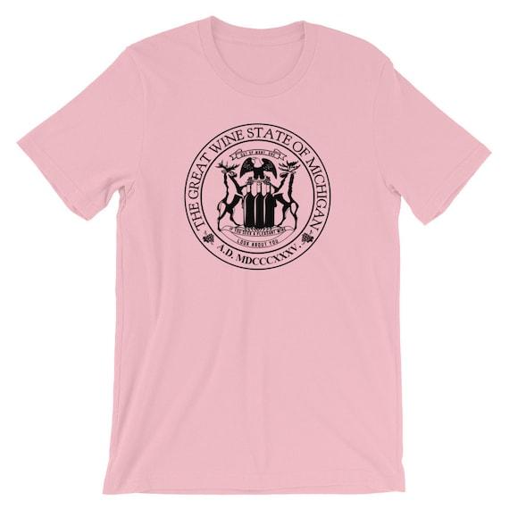 Michigan, The Great Wine State Short-Sleeve Unisex T-Shirt