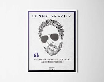 Ilustrattion-Influencers Lenny Kravitz