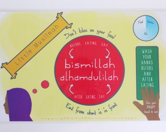 Little Muslimah - Islamic Activity Placemat - Girls