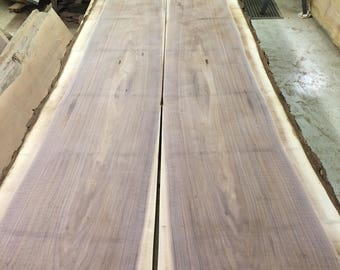Bookmatched and Figured Black Walnut 11FT x 4FT