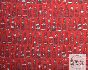 Dear Stella Hot Sauce Fabric // Quilting Cotton // Cotton Woven // 100% cotton // Hot Sauce Fabric