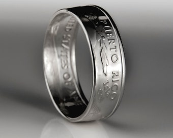 Puerto Rico Quarter - Coin Ring - SILVER (.900)