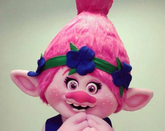 The troll's head is Roses.Troll Rose. Mask of the Troll of the Rose. Troll of Roses Costume. Mascots