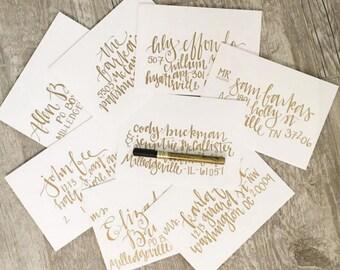 Hand lettered envelopes | custom envelopes | wedding invitetions | christmas card | greeting card