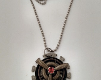 Red Prop steampunk necklace