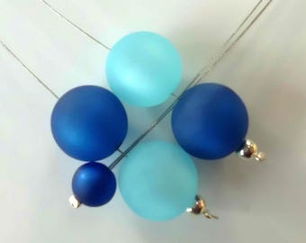 Polaris/wedding/gift/party blue beaded necklace