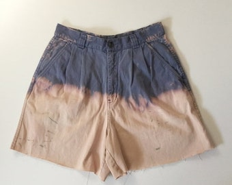 SALE Vtg Cut offs, vtg cut off shorts, ombré shorts, bleach dyed shorts, Vtg Patagonia shorts