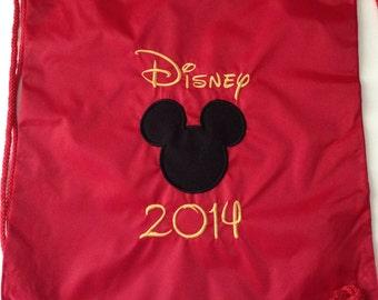 Disney Cinch Bag - Disney bag/ Disney Drawstring bag, Disney backpack