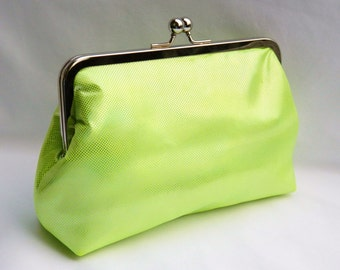 Clutch Purse, Neon Green Clutch, Evening Clutch, Bridesmaid Clutch, Wedding Clutch Purse