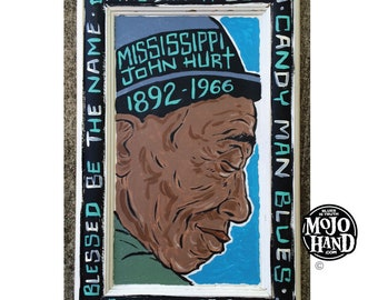 Mississippi John Hurt Painting – Spike Driver Blues Painting by Grego - mojohand.com - original artwork