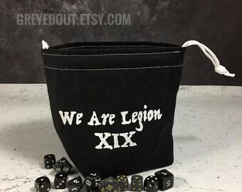 We Are Legion XIX Dice Bag