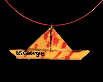 SS Georgie Float Boat Necklace