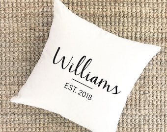 Wedding Date Pillow Cover | Personalized Wedding Gift for Couple | Gift for Bride | Bridal Shower Gift | Engagement Gift Cotton Anniversary