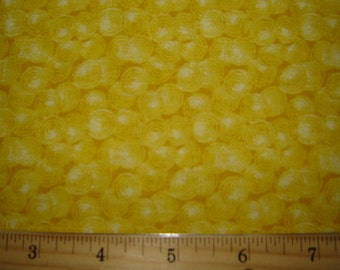 Spin Dots Quilting Fabric Yellow