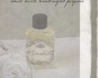 "Natural Botanical Perfume-- ""Mirabelle"" in 5 ml glass bottle"