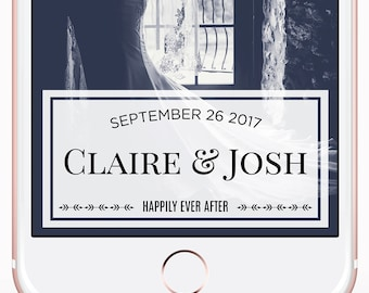 Snapchat Filter - Custom Snapchat Wedding Geofilters - Personalized Geofilter - Wedding Snapchat Geofilter