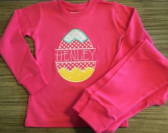 Easter Egg Applique Pajamas