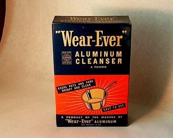 Vintage Unopened Box Wear-Ever Aluminum Cleanser, Advertising, Kitchen