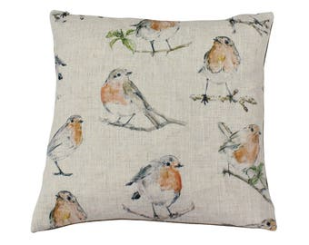 Robin Countryside Animal Print Cushion Cover
